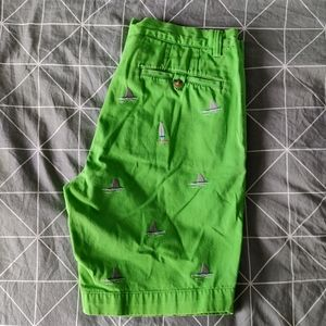 Embroidered Polo Shorts